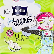 Духи, Парфюмерия, косметика Absorbante For Teens Ultra Relax, 10 bucăți - Bella