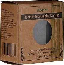 Parfumuri și produse cosmetice Burete Konjac cu cărbune din bambus - Bio4You