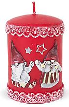 Parfumuri și produse cosmetice Lumânare decorativă, roșie, 7x10 cm - Artman Dwarves