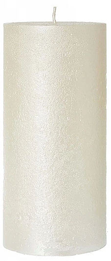 Lumânare decorativă, sidef, 7x18 cm - Artman Rustic Metalic — Imagine N1