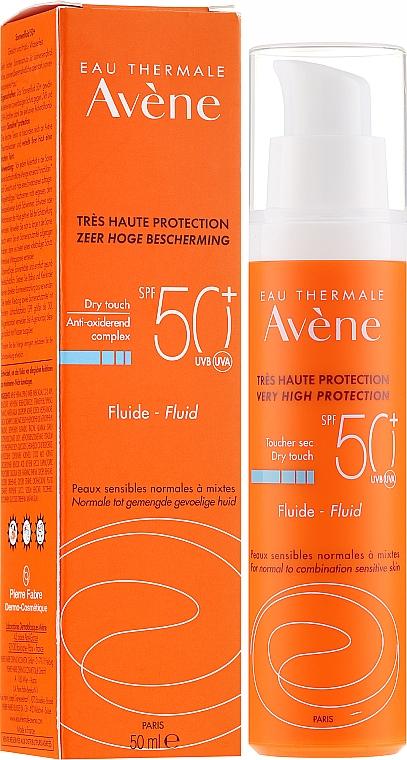 Fluid de protecție solară pentru față - Avene Eau Thermale Sun Care Fluid SPF50