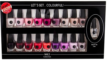Set - Cosmetic 2K Let'S Get Colourful! (nail/laquer/19x3,5ml) — Imagine N1