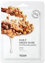 """Parfumuri și produse cosmetice Mască de față """"Colagen Natto"""" - Yadah Daily Green Mask Natto Collagen"""