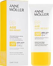 Parfumuri și produse cosmetice Cremă BB cu protecție solară - Anne Moller BB Age Sun Resist Perfecting Cream SPF50+