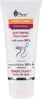 Cremă cu uree 30% pentru picioare - Ava Laboratorium Foot Care Dermaline Softening Foot Cream With Urea 30% — Imagine N1