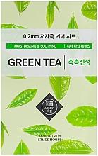 Parfumuri și produse cosmetice Mască de față, ultra subțire cu extract de ceai verde - Etude House Therapy Air Mask Green Tea