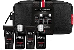 Parfumuri și produse cosmetice Set - Baylis & Harding Signature Men's Black Pepper & Ginseng Wash Bag(hair/body/wash/100ml+a/sh/balm/50ml+face/wash/100ml+sh/gel/50ml+bag)