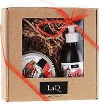Parfumuri și produse cosmetice Set - LaQ (sh/gel/300ml + peeling/200ml)