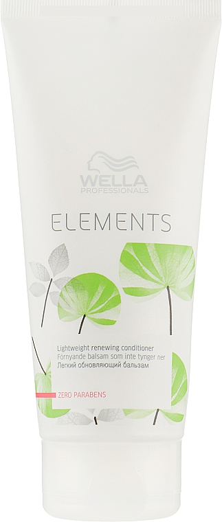 Balsam revitalizant pentru păr deteriorat - Wella Professionals Elements Lightweight Renewing Conditioner