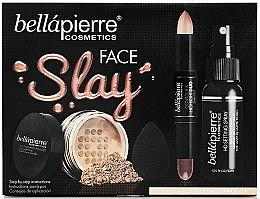 Parfumuri și produse cosmetice Set - Bellapierre Face Slay Kit Dark/Deep (stick/8.6g + powder/6.5g + spray/70ml + sponge/1pcs)