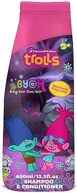 Șampon-balsam de păr, pentru copii - Corsair Trolls 2in1 Blueberry Shampoo&Conditioner — Imagine N1