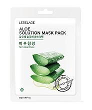 """Parfumuri și produse cosmetice Mască din țesătură pentru față """"Aloe"""" - Lebelage Aloe Solution Mask"""