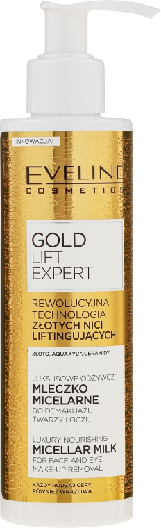 Lăptișor demachiant pentru ochi - Eveline Cosmetics Gold Lift Expert