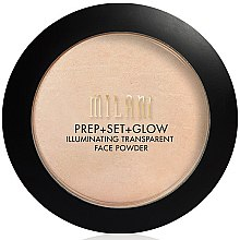 Parfumuri și produse cosmetice Pudră + primer + highlighter de față 3 în 1 - Milani Prep + Set + Glow Illuminating Transparent Powder