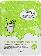 Parfumuri și produse cosmetice Mască de țesut cu extract de ceai verde - Esfolio Pure Skin Green Tea Essence Mask Sheet
