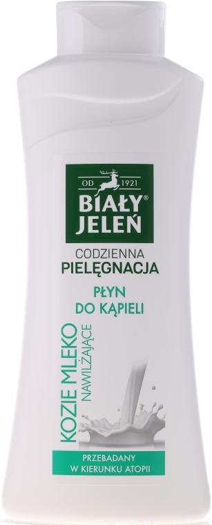 Gel-spumă cu lapte de capră pentru baie - Bialy Jelen Hypoallergenic Bath Lotion With Goat Milk — Imagine N2