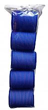 Parfumuri și produse cosmetice Bigudiuri velcro 498788, 48 mm, albastre - Inter-Vion