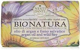 Parfumuri și produse cosmetice Săpun cu ulei de argan și fân - Nesti Dante Bio Natura Argan Oil & Wild Hay Soap
