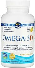 """Parfumuri și produse cosmetice Supliment alimentar cu aromă de lămâie """"Omega + D3"""" - Nordic Naturals Omega 3D"""