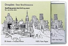 Parfumuri și produse cosmetice Șervețele matifiante - Too Cool For School Dinoplatz Dear Brachiosaurus Blotting Paper Green Tea