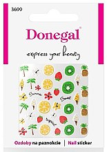 Parfumuri și produse cosmetice Abțibilduri pentru unghii, 3699 - Donegal