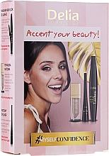 Parfumuri și produse cosmetice Set - Delia Cosmetics Accent Your Beauty! (lipstick/5ml + mascara/12ml + eyeliner/4ml)