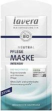 Parfumuri și produse cosmetice Mască intensiv nutritivă pentru față - Lavera Neutral Nourishing Intensive Mask