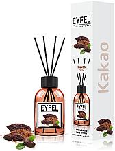 "Parfumuri și produse cosmetice Difuzor aromatic ""Cacao"" - Eyfel Perfume Reed Diffuser Cocoa"