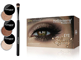 Parfumuri și produse cosmetice Set pentru machiajul ochilor - Bellapierre Eye Slay Kit Natural