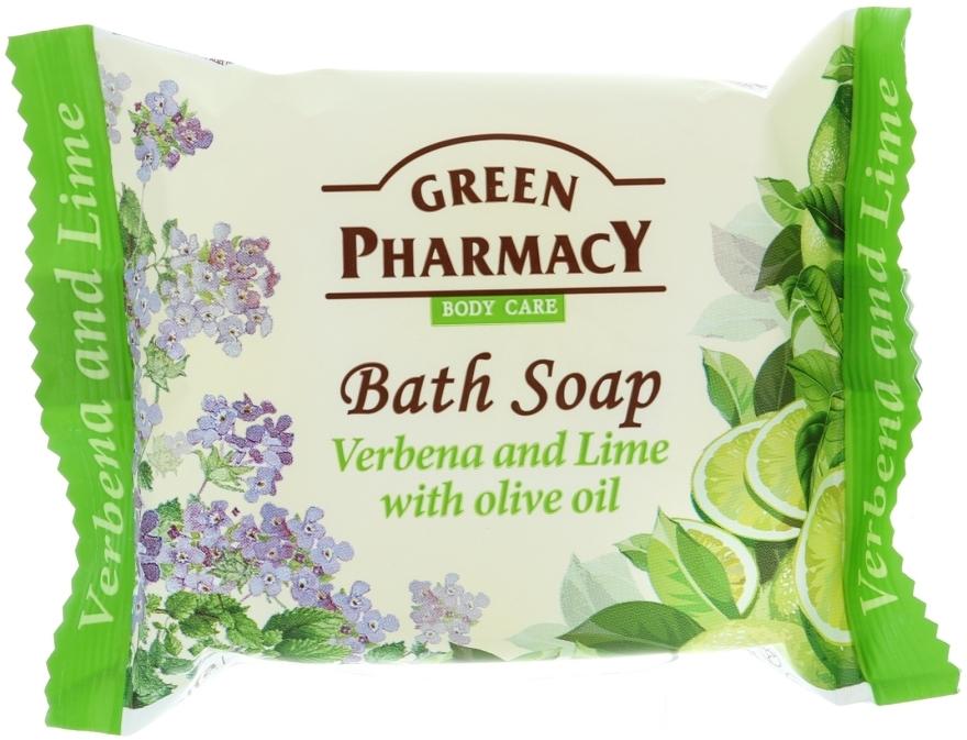 """Săpun """"Verbena și lime cu ulei de măsline"""" - Green Pharmacy"""