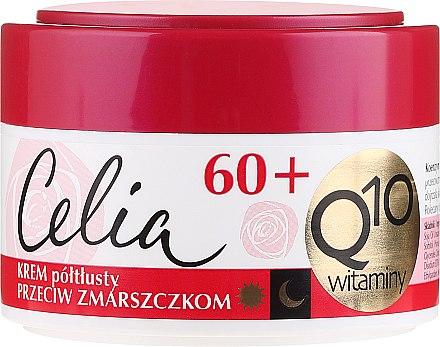 Полужирный крем для лица, антивозрастной - Celia Q10 Face Cream 60+ — фото N1
