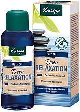 """Parfumuri și produse cosmetice Ulei de baie """"Patchouli și lemn de santal"""" - Kneipp Deep Relaxation Patchouli & Sandalwood"""