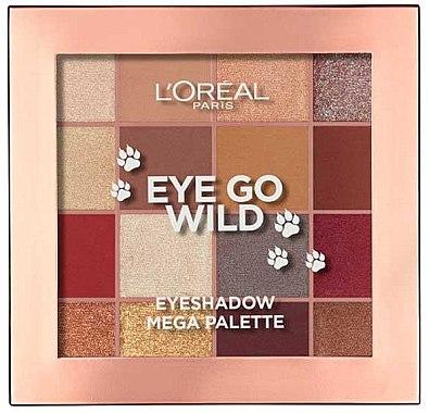 Paletă farduri de ochi - L'Oreal Paris Eye Go Wild Eyeshadow Mega Palette
