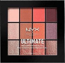 Parfumuri și produse cosmetice Paletă farduri de ochi - Nyx Professional Ultimate Multi-Finish Shadow Palette
