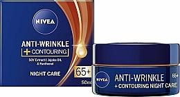 """Parfumuri și produse cosmetice Cremă de noapte """"Anti-Wrinkle 65+"""" - Nivea Anti-Wrinkle Contouring Night Care 65+"""