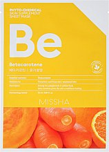"Parfumuri și produse cosmetice Mască din țesut ""Nutriție"" - Missha Phytochemical Skin Supplement Sheet Mask Betacarotene/Nourishing"