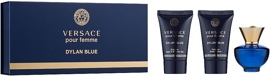 Versace Pour Femme Dylan Blue - Set (edp/5ml + b/l/25ml + s/g/25ml)