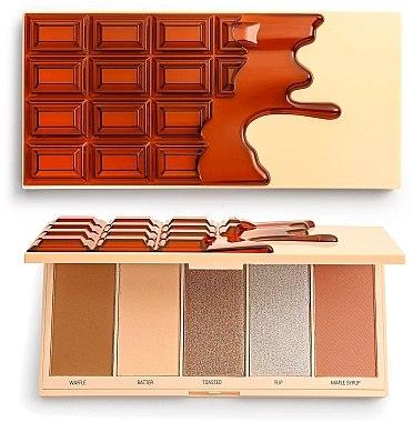 Paletă de machiaj - I Heart Revolution Chocolate Face Palette Waffle — Imagine N1