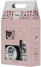 """Parfumuri și produse cosmetice Set """"Sunătoare"""" - Yope (b/oil/200ml + sh/gel/400ml + candle/60g)"""