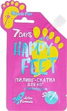 Parfumuri și produse cosmetice Пилинг-скатка для ног с грейпфрутом - 7 Days Happy Feet