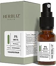 """Parfumuri și produse cosmetice Ulei spray pentru cavitatea bucală """"Măsline"""" 5% - Herbliz CBD Olive Fresh Oil Mouth Spray 5%"""