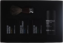 Parfumuri și produse cosmetice Set - Zew Barber's Holiday Set (soap/3x85ml + brush)