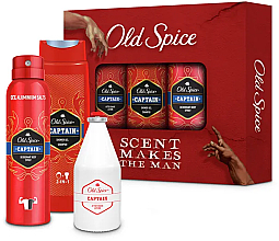 Parfumuri și produse cosmetice Set - Old Spice Captain Creation Trio (sh/gel/250ml +deo/150ml + ash/lot/100ml)