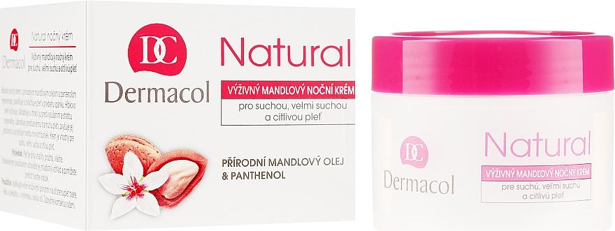 Cremă de noapte pentru față - Dermacol Natural Almond Oil Nourishing Care Cream — Imagine N1