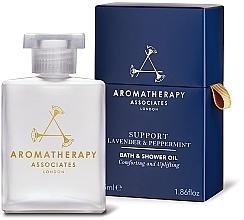 Parfumuri și produse cosmetice Ulei de baie, cu extract de lavandă și mentă - Aromatherapy Associates Support Lavender & Peppermint Bath & Shower Oil