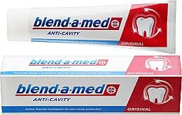 """Parfumuri și produse cosmetice Pastă de dinți """"Anti-carie"""" - Blend-A-Med Anti-Cavity Original Toothpaste"""