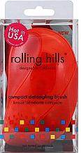 Parfumuri și produse cosmetice Perie de păr, compactă, roșie - Rolling Hills Compact Detangling Brush Red