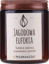 """Parfumuri și produse cosmetice Lumânare parfumată din soia """"Berry euphoria"""" - Bosphaera Berry Euphoria"""