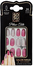 Parfumuri și produse cosmetice Set de unghii false - Sosu by SJ False Nails Medium Balerina Pillow Talk