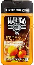 "Parfumuri și produse cosmetice Gel de duș ""Portocal și Argan"" - Le Petit Marseillais Men Body and Hair"